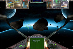 screenshot videogioco campo di asteroidi sviluppato in html5 e javascript