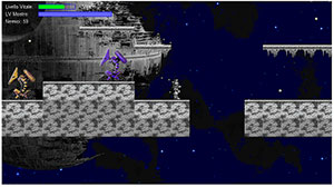 screenshot videogioco space hero sviluppato in html5 e javascript