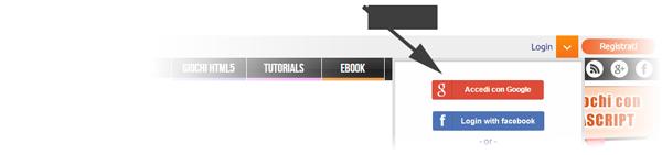 login guida html5