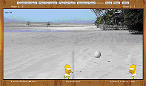 screenshot videogioco volley di testa sviluppato in html5 e javascript