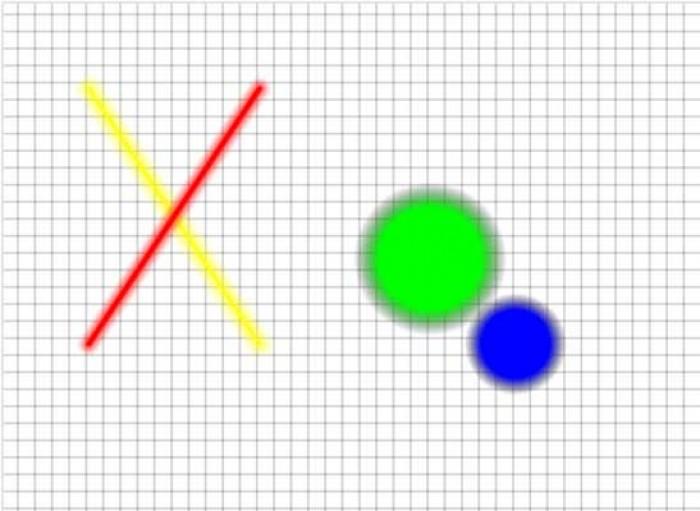 Effetto glow su cerchi e linee con Canvas