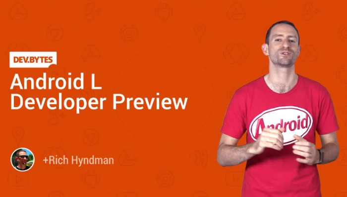 Android L - Developer preview